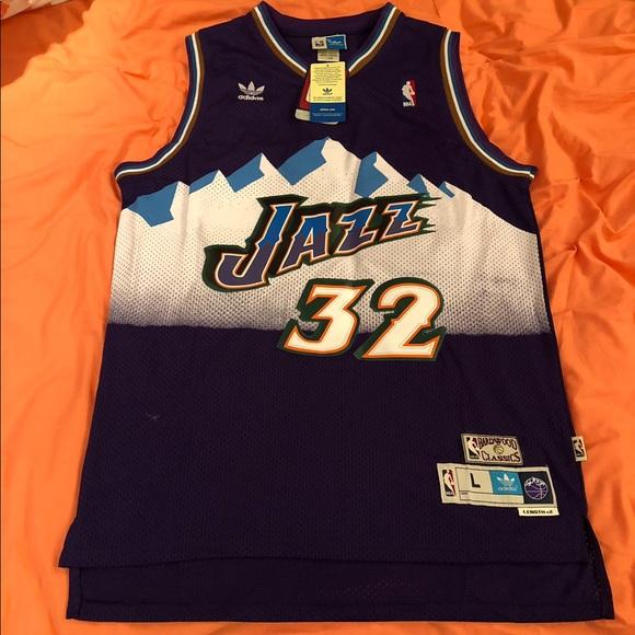 new products 1f5b1 94289 Karl Malone Utah Jazz #32 Adidas Jersey NWT